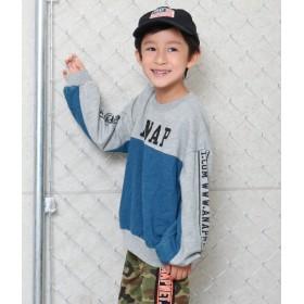 ANAP KIDS&HOME(アナップ キッズ&ホーム)/カットデニム切り替えトレーナー