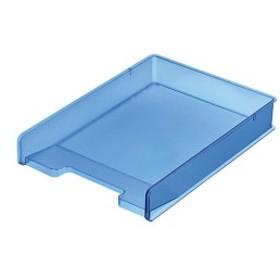 (まとめ) サンカ デスクトレー(頑丈トレー)A4タテ ブルー SDT-PCCBL 1個 【×5セット】