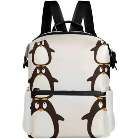 ペンギン かわいい リュック 学生用 デイパック レディース 大容量 バックパック 男女兼用 機能性 大容量 防水性 デザイン 旅行 ブックバッグ ファション
