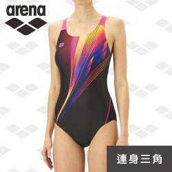 限量 秋冬新款 arena 訓練款 TMS9122W  專業運動女士游泳衣 速乾顯瘦泳裝 官方正品