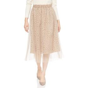 [ジル バイ ジルスチュアート] スカート プリーツチュールフローラルスカート レディース 125-9220026 レオパード 日本 FR (FREE サイズ)