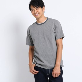 TAKEO KIKUCHI(タケオキクチ:メンズ)/サーフ ドット フェイクレイヤード クルーネック Tシャツ