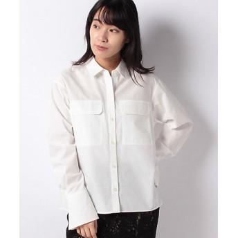 【SALE(伊勢丹)】<LAPINE BLEUE>【洗える】ブロードシャツ シロ【三越・伊勢丹/公式】