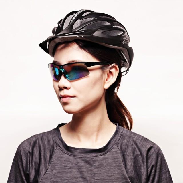 【GUGA】電鍍雷射鏡片運動型偏光太陽眼鏡墨鏡(P1081-C1-5-黑框藍水銀片)