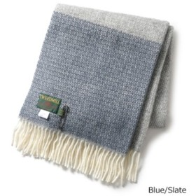 (import select Musee/import select Musee)Lifestyle Knee Rug ウール 大判ストール マフラー チェック 柄 カラー6色 レディース/レディース Blue