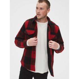 Gap コージー チェックシャツジャケット