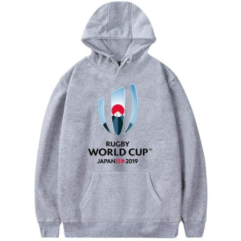 2019 ラグビーワールドカップ 新しい 日常および屋外スポーツ用のユニセックスフーディー人格 セーター MGray