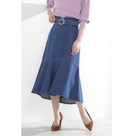 SALE開催中【PROPORTION BODY DRESSING:スカート】|美人百花 10月号掲載|◆マーメイドミモレデニムスカート