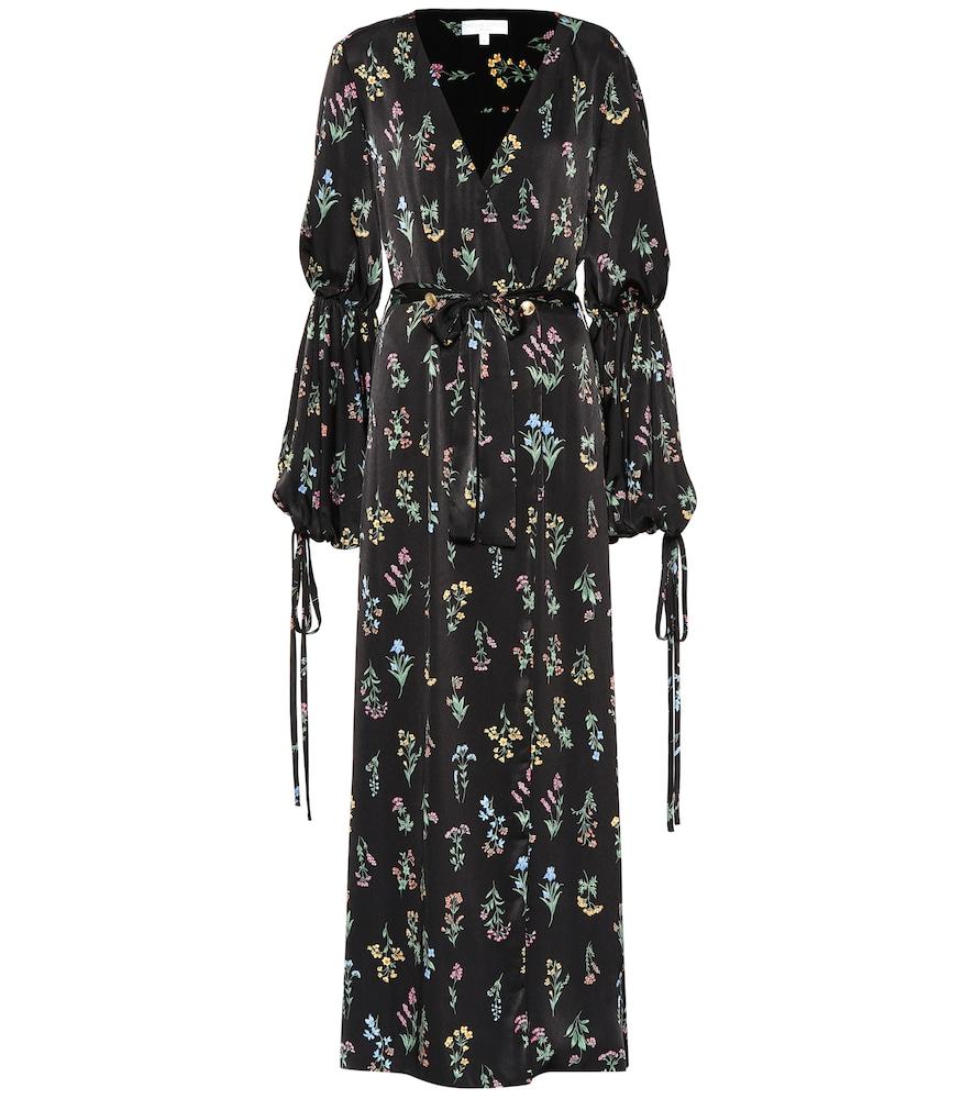 Doria floral satin maxi dress