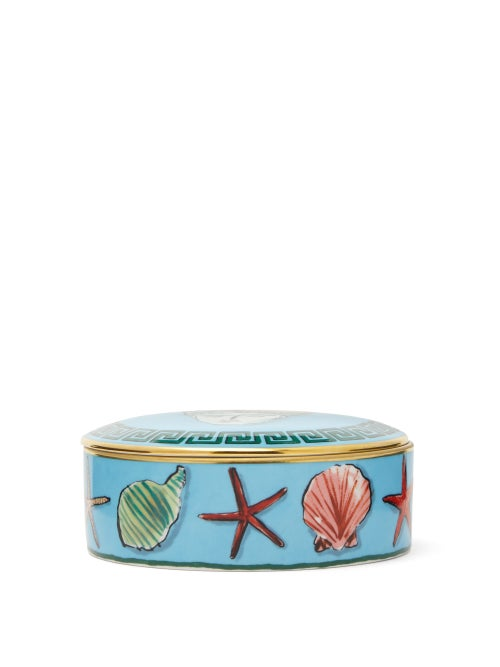 Ginori 1735 - X Luke Edward Hall Neptune Porcelain Jar - Blue Print