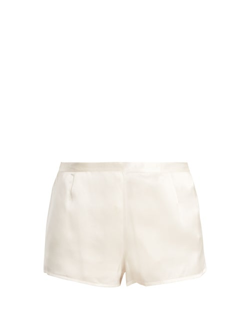 La Perla - Silk-satin Pyjama Shorts - Womens - Ivory