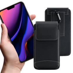 City 品味爵士 for iPhone 11/11 Pro /11 Pro Max手機用腰掛腰包皮套-送扣環