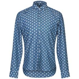 《セール開催中》OGNUNOLASUA by CAMICETTASNOB メンズ シャツ ブルー 39 コットン 65% / ポリエステル 35%