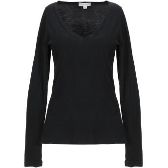 《セール開催中》CROSSLEY レディース T シャツ ブラック L コットン 100%