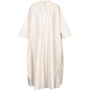 《セール開催中》MAURO GRIFONI レディース 7分丈ワンピース・ドレス グレー 38 コットン 100%