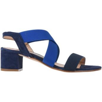 《セール開催中》ANCARANI レディース サンダル ブルー 35 革 / 紡績繊維