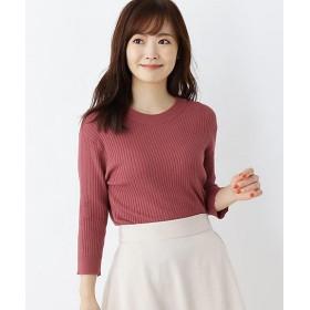 【SALE(三越)】<pink adobe/ピンクアドべ> プレーティングリブプルオーバー(2001548397) ピンク【三越・伊勢丹/公式】