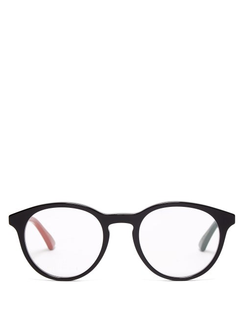 Gucci - Round-frame Acetate Glasses - Mens - Black