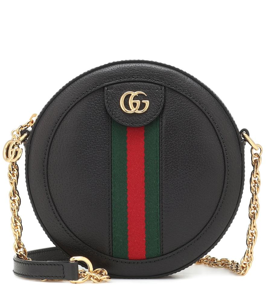 Ophidia Mini leather shoulder bag