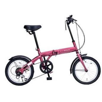 マイパラス 折たたみ自転車 16インチ 6段変速(ルージュ) MYPALLAS M-103-RO 返品種別B