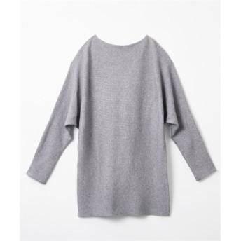 ボートネックドルマンニットチュニック (ニット・セーター)(レディース)Knitting, Sweater