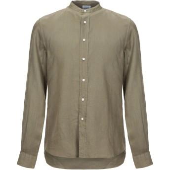 《セール開催中》ASPESI メンズ シャツ ミリタリーグリーン 39 麻 100%