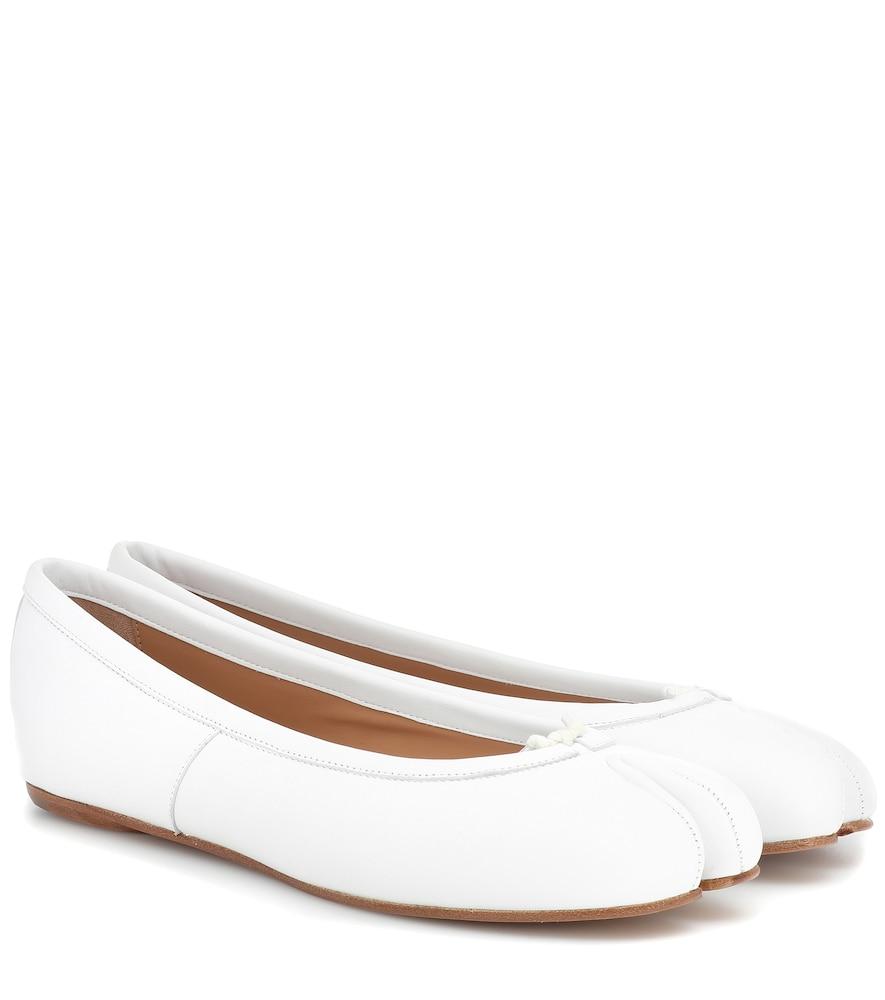 Tabi leather ballet flats