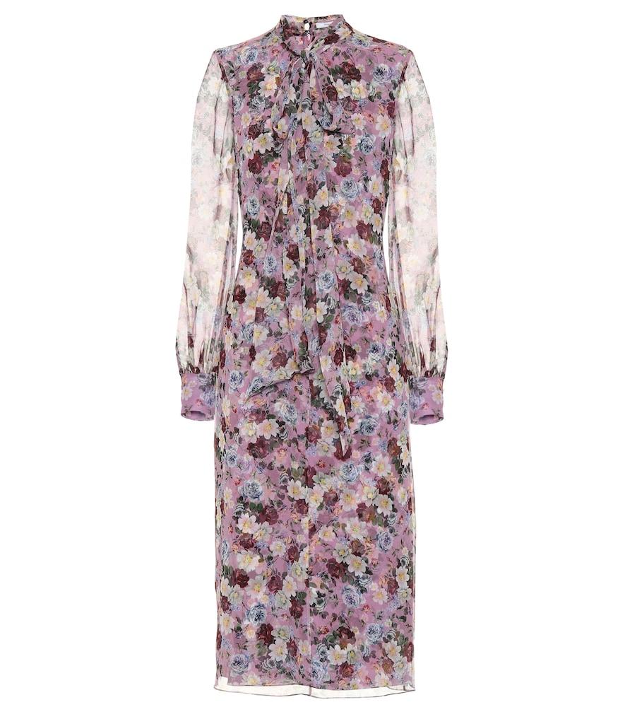 Danielle floral-printed silk dress