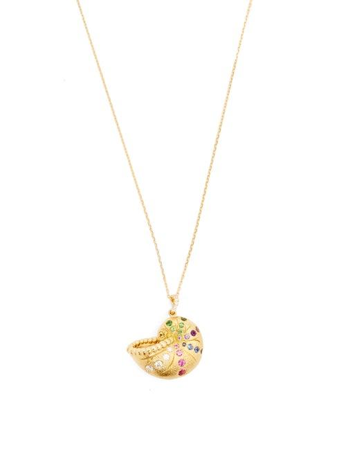 Aurélie Bidermann Fine Jewellery - Diamond, Sapphire & 18kt Gold Necklace - Womens - Multi