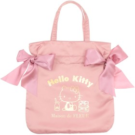 【6,000円(税込)以上のお買物で全国送料無料。】・ハローキティコラボダブルリボントートバッグ