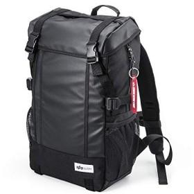メンズリュック スクエアリュック バックパック メンズ 通学 通勤 iPad PC収納 A4対応 ブラック 200-BAGBP004BK (ブラック)