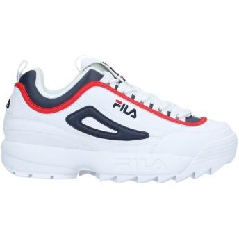 《セール開催中》FILA メンズ スニーカー&テニスシューズ(ローカット) ホワイト 8 紡績繊維 / ゴム