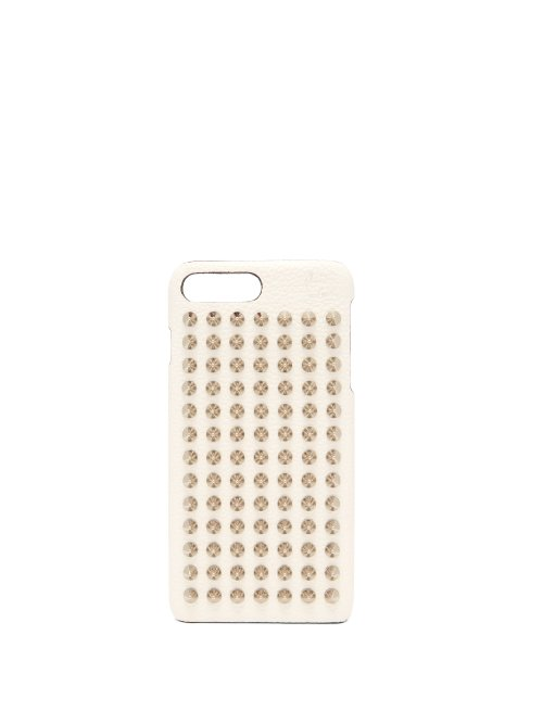 Christian Louboutin - Loubiphone Leather Iphone® 7 & 8 Plus Case - Womens - White Silver