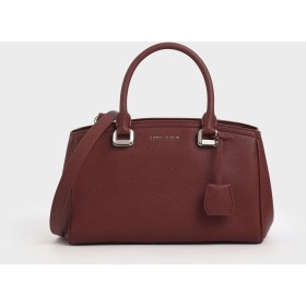 【2019 WINTER 新作】ストラクチャード トップハンドルバッグ / Structured Top Handle Bag (Red)