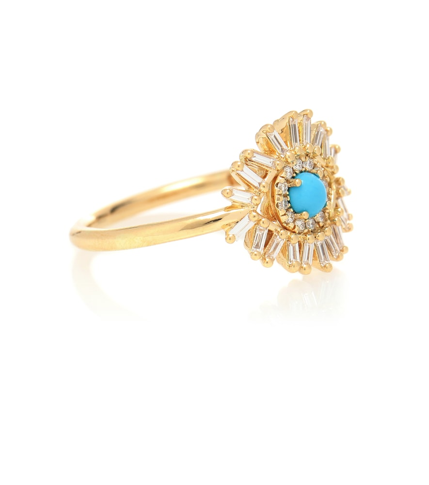 Eye Wide Open 18kt gold, turquoise and diamond ring