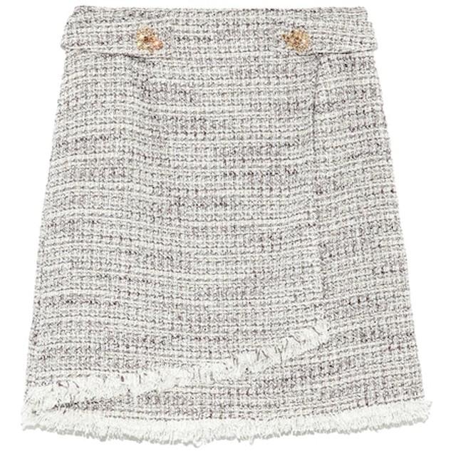 【リリーブラウン/Lily Brown】 [L.B CANDY STOCK]ツイード台形コラボスカート
