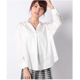 INTERPLANET TCタイプライターBACKドロストシャツ(オフホワイト)【返品不可商品】