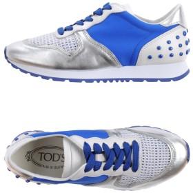 《セール開催中》TOD'S レディース スニーカー&テニスシューズ(ローカット) ブライトブルー 39.5 革 / 紡績繊維