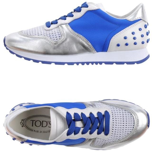 《セール開催中》TOD'S レディース スニーカー&テニスシューズ(ローカット) ブライトブルー 40.5 革 / 紡績繊維