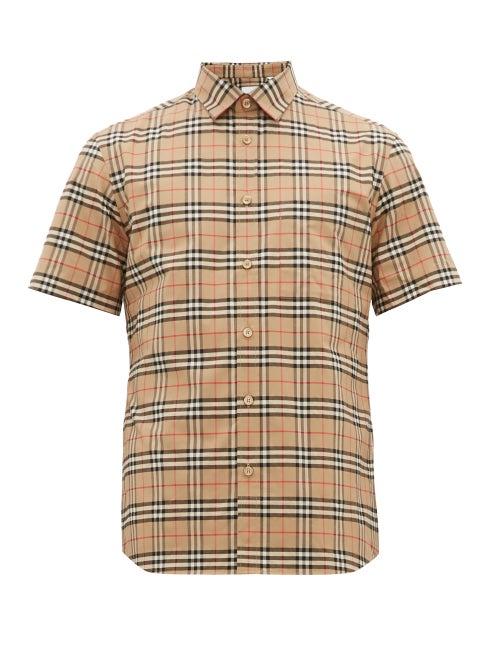 Burberry - George Vintage-check Cotton-blend Shirt - Mens - Camel