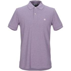 《期間限定セール開催中!》BROOKS BROTHERS メンズ ポロシャツ ライラック S コットン 100%