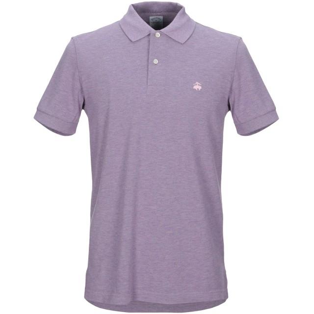 《セール開催中》BROOKS BROTHERS メンズ ポロシャツ ライラック S コットン 100%