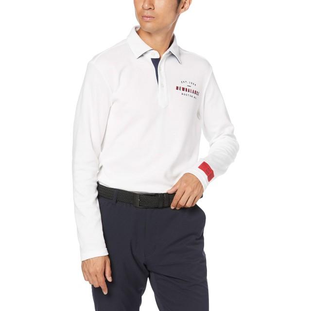 [ニューバランス ゴルフ] [メンズ] 長袖 ポロシャツ (スリムフィット) / 012-9269003 / ゴルフ 速乾 ウェア 030_ホワイト 日本 5 [L] (日本サイズL相当)