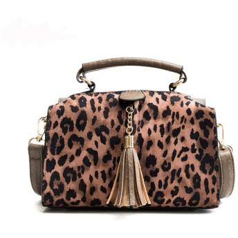 ハンドバッグ ショルダーバッグ タッセルバッグ レディース 手提げバッグ 豹柄 鞄 斜め掛け 女の子 ミニショルダー 大容量 軽量 通勤 お出かけ