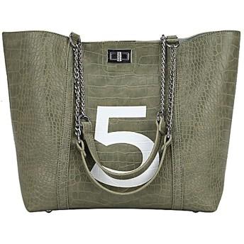 レディースハンドバッグ女性のバッグデザイナー女性の多彩なPUレザーメッセンジャーバッグレター印刷サックメインファム、グリーンパック