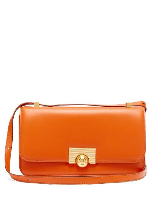 Bottega Veneta - The Classic Leather Shoulder Bag - Womens - Orange