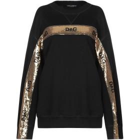 《セール開催中》DOLCE & GABBANA レディース スウェットシャツ ブラック 40 コットン 100% / ポリエステル