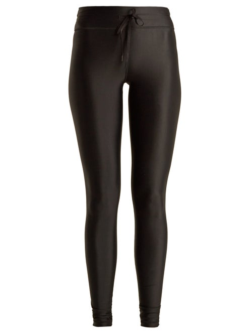 The Upside - Drawstring-waist Performance Leggings - Womens - Black