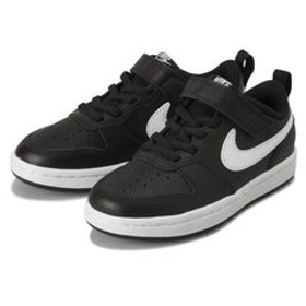 【ABC-MART:シューズ】KBQ5451 17-22COURT BOROUGH LOW 2 (PSV) 002BLACK/WHITE 599731-0002