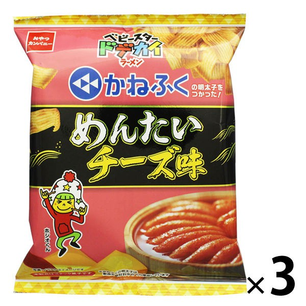 Baby Star寬版點心麵推出了明太子起司口味酥脆的點心麵x鹹香調味絕對是看電影、追劇的必備零嘴商品重量: 約198g,3入裝產地: 日本營養標示: (每66g) 熱量: 334kcal,蛋白質: